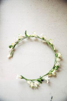 floral crown by Oscar de la Renta, Bridal 2015