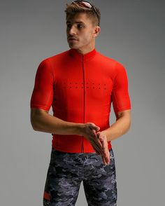 Back in Stock ] Men's Full Gas Aero / Core Jersey in [ Orange / Red ] : : : : Check it out, riding online at [ thepedla.com ]