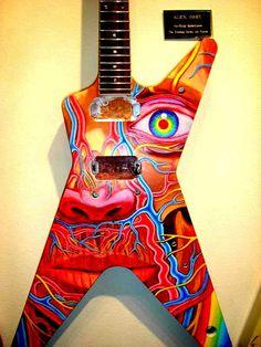 My favorite artist on my idolds guitar! Guitar ~ Alex Grey, Artist