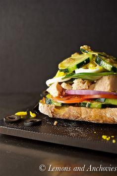 Pan Bagnat - incredible sandwich by @Jean   Lemons and Anchovies