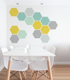 Removable Honeycomb Wall Decals 6 Hexagons Per Pack by Nicematches