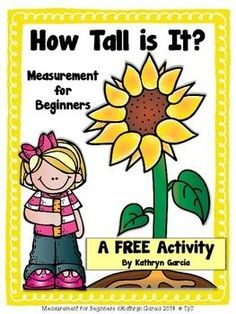This FREE activity is part of a larger product called Measurement for Beginners which is designed to bridge the gap between using concrete objects to measure other concrete objects to actually using rulers to measure concrete and pictured objects. Measurement Kindergarten, Measurement Activities, Math Measurement, Kindergarten Math Activities, Preschool Math, Math Resources, Teaching Math, Preschool Activities, Maths