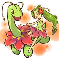 Pokémon: Meganium and Girl