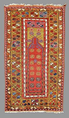 Mudjur Prayer rug (19th c. Turkey)