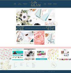 Hello Glam - An Everything Theme with Boutique Styling #wordpresstheme #wordpress #theme #premiumtheme #femininetheme