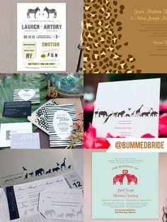Perfect Picks for Safari/Zoo Wedding Invitations -Weddings Gone Wild - Bummed Bride