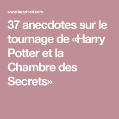 37 anecdotes sur le tournage de «Harry Potter et la Chambre des Secrets»