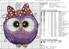 New Embroidery Patterns Free Baby Punto Croce Ideas Cross Stitch Owl, Baby Cross Stitch Patterns, Just Cross Stitch, Cross Stitch Cards, Embroidery Patterns Free, Cross Stitch Animals, Cross Stitch Kits, Cross Stitch Designs, Cross Stitching