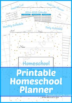 Free Homeschool Planner Free Printable Homeschool Planner - From ABCs to ACTs Free Homeschool Planne School Planner, School Schedule, Homeschool Supplies, School Lessons, School Tips, School Ideas, Home Schooling, School Organization, Abcs