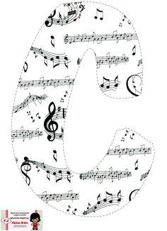 Alfabeto con pentagramas alocados. | Oh my Alfabetos!