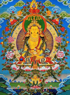 Thangka Art - Ksitigarbha 地藏王菩薩 Sunapati Thangka School www.traditionalartofnepal.com #tanka
