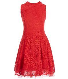 My Michelle Big Girls 716 Sleeveless Lace Dress #Dillards