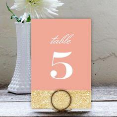 Glitzy Glitter Table Numbers by Olivia Raufman | Elli