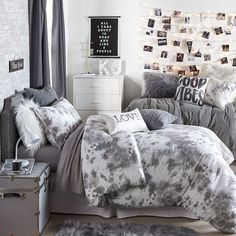 achieving your room goals has never been easier bc now you can SHOP ROOMS 💕 which is your favorite? Dream Rooms, Dream Bedroom, Pretty Bedroom, Bedroom Minimalist, College Room, Cute Dorm Rooms, Kids Rooms, Dorm Room Walls, Woman Bedroom