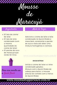 Receita de Mousse de maracujá