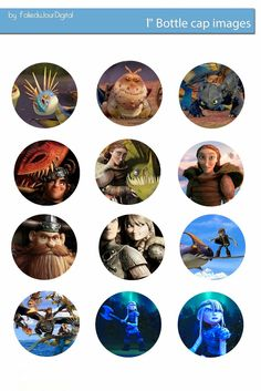 Free Bottle Cap Images: How to train your dragon free digital bottle cap images