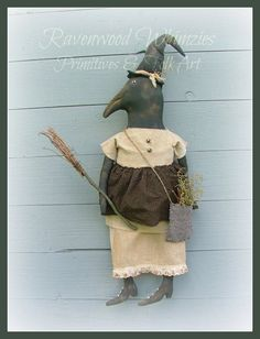 primitive halloween crows - Google Search