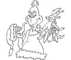 Free Printable Grinch Coloring Pages For Kids Coloring Pages