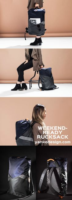Alfred Yoo's 11 22 Weekender bag gets heads turning with its free flowing looks and interesting variations on access! Inspired by traditional Korean heritage and aesthetics, the Weekender Daypack was designed to meet the needs of the fashion-conscious traveler in both style and function. www.yankodesign.com
