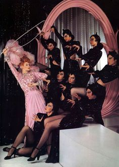 "I love not only Lucille Ball's costume but also the dancers cats costumes in the ""Ziegfeld Follies"" movie."
