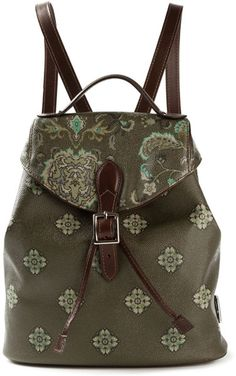Love this: Etro Flower Print Backpack @Lyst