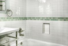 This is the same bathtub fixtures and tile we used in the beach house only our tile is blue!
