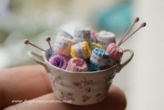 Miniature knitting supplies