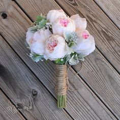 ideas for bridal flowers peonies dusty miller Small Bridal Bouquets, Silk Bridal Bouquet, Peony Bouquet Wedding, Small Bouquet, Peonies Bouquet, Flower Bouquets, Purple Bouquets, Bridesmaid Bouquets, Pink Bouquet