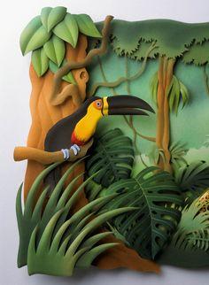 Paper illustration by Carlos Meira 3d Paper Art, Paper Artwork, Paper Crafts, Paper Artist, Wood Crafts, Papier Diy, Paper Illustration, Paper Quilling, Sculpture Art