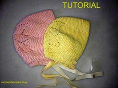 Para todos nuestros amigos tejedores, hoy vamos a ver el esquema para tejer esta linda capota de bebé.