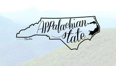 Appalachian State University Decal Free Shipping by ChasingSadie on Etsy https://www.etsy.com/listing/244192284/appalachian-state-university-decal-free