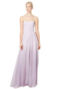 Soft floor-length lilac from ERIN erin fetherston Heathcliff Gown is the perfect feminine pick