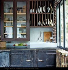 Renée Finberg ' TELLS ALL ' in her blog of her Adventures in Design: Industrial Feel In A French Home