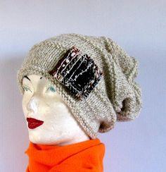 Knit Hat  Beanie Knit  Womens Hat  Beanie  Knit by recyclingroom, $45.00