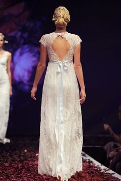 Claire Pettibone 'Minuet' wedding dress (back), Still Life Collection, 2014 Fashion Show, Bridal Market Photo: Anton Oparin