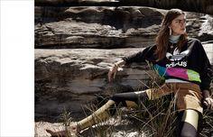 Tallulah Morton wearing Au Revoir Les Filles necklace for Schön! Magazine | Click to shop statement jewellery