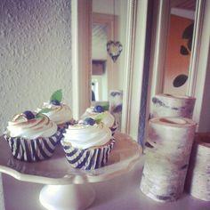 Blåbær cupcake