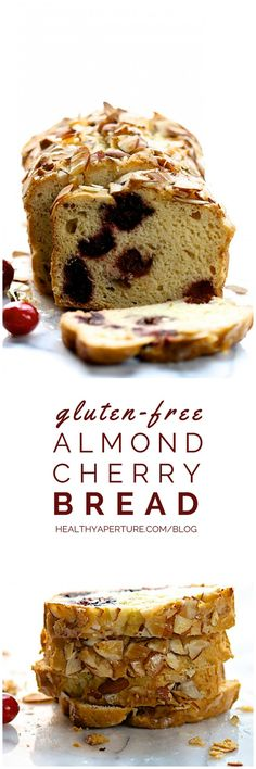 An easy gluten free quick bread recipe featuring fresh sweet cherries that makes a wonderful breakfast or healthy snack.