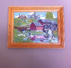 Pair Vintage Paint by Numbers Rustic Scenes by Pesserae on Etsy, $25.00