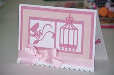 Convite baby festa Rosa com o tema de passarinho. - Encomendas 49 3567-0204 Scrapbook, Napkins, Tableware, Baby, Ticket Invitation, Pink, Dinnerware, Dishes, Scrapbooks