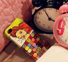 Sleepyyyy :)  #case #apple #iphone #love #girl #art #handmade #drawing