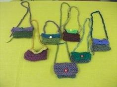 "first second grade knitted little ""treasure bags""  2011"