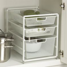 The Container Store > Cabinet-Sized elfa Mesh Drawer Solution