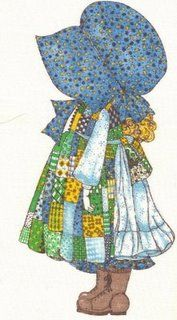 Holly Hobbie-my mom made me bonnets like this that i wore every day!