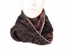 e165c36083e9 col snood femme marron baroque en velours