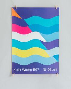 Vintage Poster Kieler Woche 1977 #design #printdesign #poster #posterdesign #minimal #minimalist #minimalistisch #minimalist