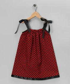 Take a look at this Red & Black Checkerboard Swing Dress - Infant, Toddler & Girls by Cozy Bug on #zulily today!
