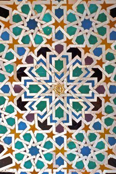 I am really inspired by Islamic Art. I love the Geometric patterns and vibrant colours. Geometric Patterns, Islamic Patterns, Tile Patterns, Geometric Designs, Textures Patterns, Islamic Designs, Cultural Patterns, Zentangle Patterns, Star Designs