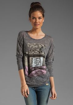 LAUREN MOSHI Bayle Color Love Potion Pocket Tee in Heather Grey at Revolve Clothing