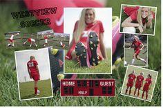 Senior Session - Soccer; collage